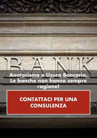 Anatocismo e usura bancaria. Le banche non hanno sempre ragione. CONTATTACI PER UNA CONSULENZA.