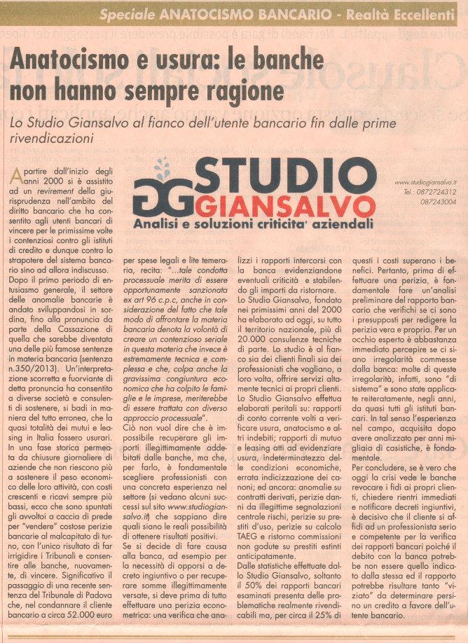 L'articolo dello Studio Giansalvo su Il sole 24 ore