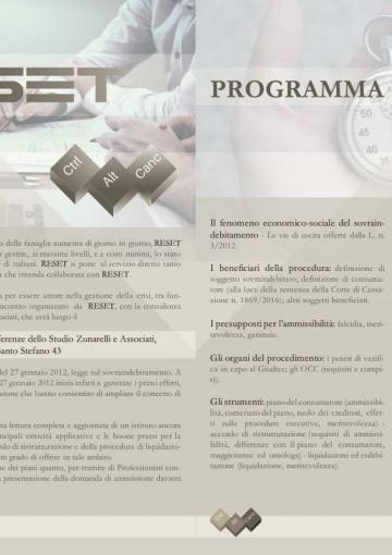 locandina evento reset bologna 10-02-2017