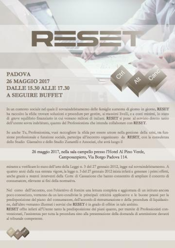 Evento Reset Padova 26-05-2017